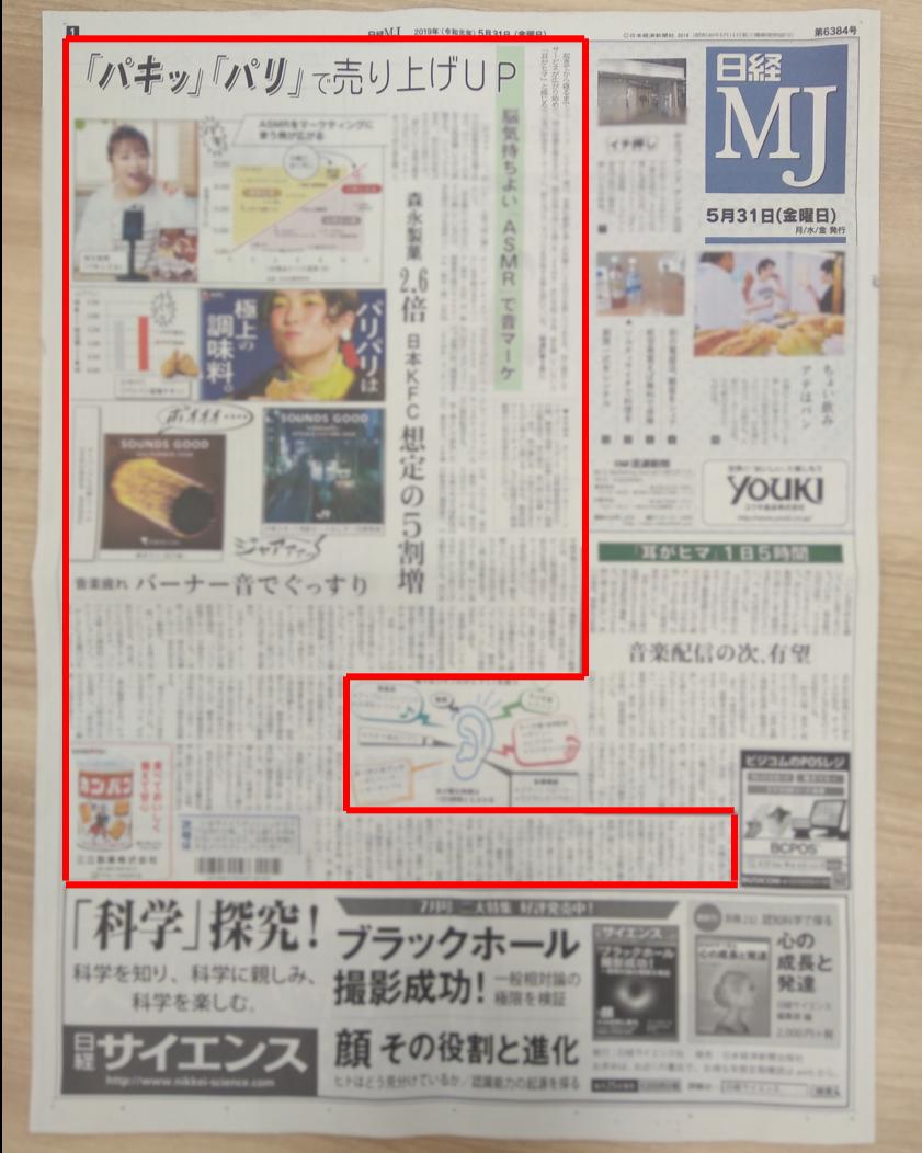 日経MJ プルークス ASMR